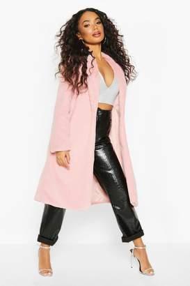 boohoo Petite Longline Super Soft Faux Fur Coat