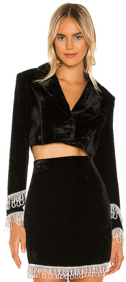 Camila Coelho Jassira Boxy Cropped Blazer