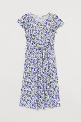 H&M MAMA Flounce-trimmed dress
