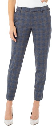 Liverpool Kelsey Plaid Knit Trousers
