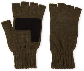 Levi's Olive Fingerless Knit Gloves