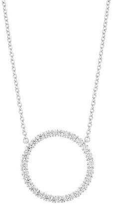 Hearts On Fire 18K White Gold & Diamond Large Circle Pendant Necklace