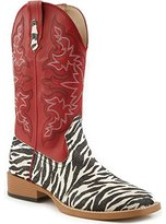 Roper Women's Zebra Glitter Riding Boot