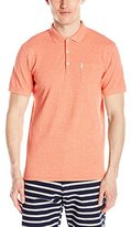 Ben Sherman Men's Solid Polo Shirt with Chest Pocket