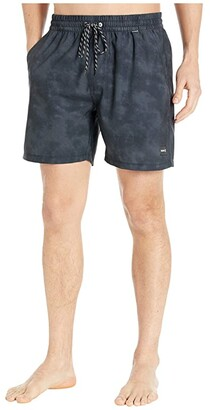 Hurley 17 Paradise Volley Boardshorts (Black) Men's Swimwear