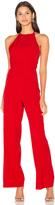 Lavish Alice Wrap Front Plunge Back Detail Wide Leg Jumpsuit