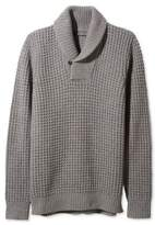 L.L. Bean Signature Merino/Cashmere Waffle Sweater, Shawl Collar