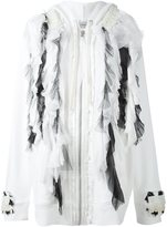 Faith Connexion ruffled tule cardi-coat - women - Silk/Cotton/Acrylic/Polyamide - XS