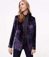 LOFT Paisley Velvet Blazer