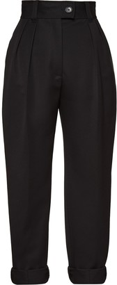 Miu Miu High-Waisted Turn-Up Trousers