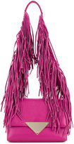Sara Battaglia fringed strap shoulder bag - women - Calf Leather - One Size