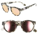 Westward Leaning Women's Olivia Palermo X 'Voyager' Mirrored Sunglasses - Pepper Tortoise/ Rose Gold