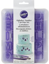 Wilton Alpha and Number Cut Outs with Case, Stainless steel, 40-Piece