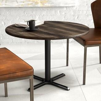 "Urban Loft 3"" Round Multipurpose Table KFI Studios Top Finish: Barnwood, Size: 29"" H x 30"" W x 30"" D"