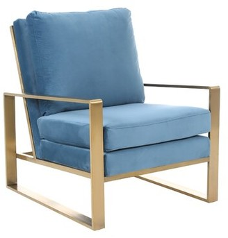 Everly Amaliya Armchair Quinn Upholstery Color: Light Blue