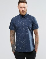 Paul Smith PS by Shirt With Scattered Heart Print Short Sleeves Tailored Slim Fit