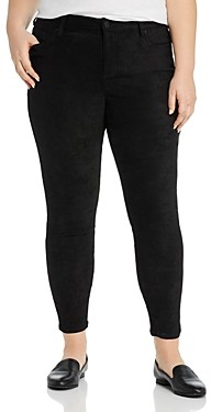 Liverpool Los Angeles Plus Liverpool Plus Abby Faux-Suede Skinny Ankle Jeans in Black