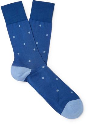 Falke Polka-Dot Stretch-Cotton Socks