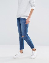 Missguided Riot High Rise Stepped Hem Skinny Jean