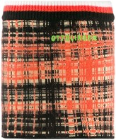 Ottolinger check pattern knitted skirt