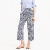 J.Crew Cropped beach pant in abstract heart print
