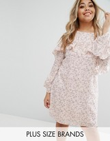 Alice & You Ruffle Sleeve Tea Dress