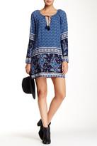 Love Stitch Stone Blue Long Sleeve Tunic Dress