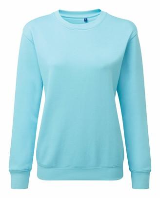 Asquith Fox Asquith & Fox Womens Organic Crew Neck Sweatshirt - 9 Colours - Bright Ocean - L