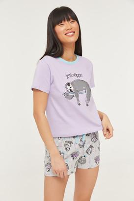 Ardene Sloth Tee and Shorts PJ set