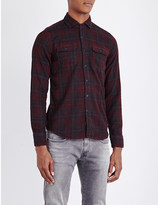 Replay Check-print slim-fit cotton shirt