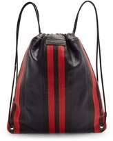 Balenciaga Bazaar drawstring leather backpack