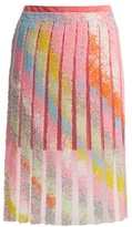Germanier - Bead-embellished Tulle And Jersey Mini Skirt - Womens - Multi