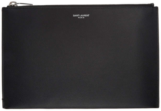 Saint Laurent Black Small Zip Pouch