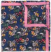fe-fe floral print pocket square - men - Silk - One Size