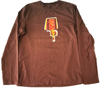 Louis Vuitton Brown Cotton T-shirts