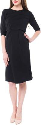 Nom Maternity Valentina Ponte Knit Maternity/Nursing Dress