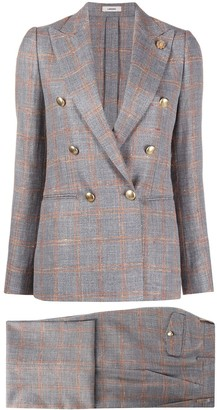 Lardini Check-Print Two-Piece Suit