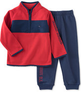Tommy Hilfiger 2-Pc. Colorblocked Half-Zip Sweater & Pants Set, Baby Boys (0-24 months)