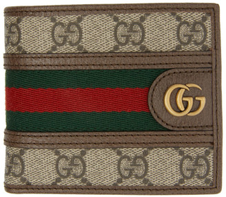 Gucci Beige GG Ophidia Bifold Wallet