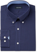 Nautica Men's Classic/Regular Fit Navy Gingham Dress Shirt