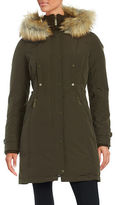 Vince Camuto Faux Fur Trimmed Down Coat