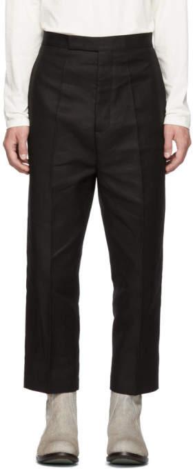 Rick Owens Black Bolans Trousers