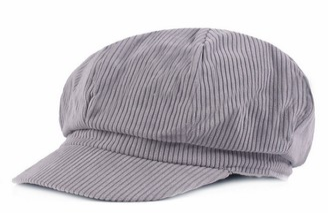 Licus Women Vintage Newsboy Cabbie Peaked Beret Cap Warm Baker Boy Visor Hat Flat Cap Grey