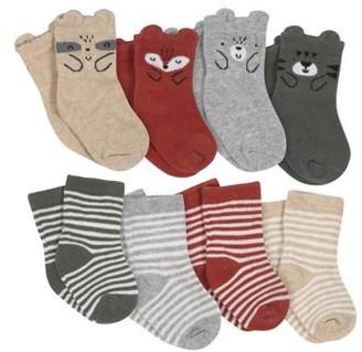 Gerber Wiggle Proof Jersey Crew Socks, 8pk (Baby Toddler Boy)