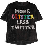 Ashish Sequined Cotton T-shirt - Black