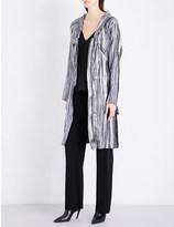 Sharon Wauchob Hooded silk and metallic-blend coat