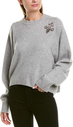 The Kooples Patch Cashmere Sweater