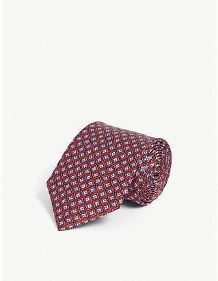 Lanvin Geometric-pattern silk tie