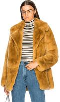 A.L.C. Rabbit Fur Stone Coat in Neutrals.