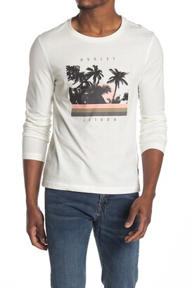 Hurley Logo Graphic Long Sleeve T-Shirt